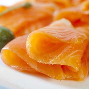 Delicate slices of Cold Smoked Norwegian Salmon